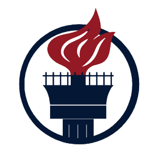 Stylized depiction of Lady Liberty's torch